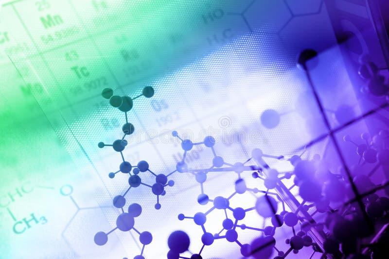 DNA, molekuła, chemia w laboranckim lab tescie fotografia stock