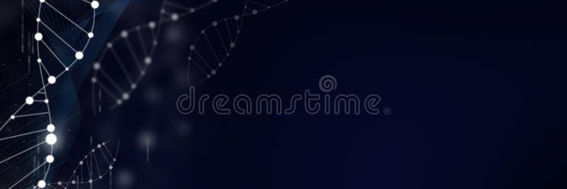 DNA molekuły spirala fotografia stock