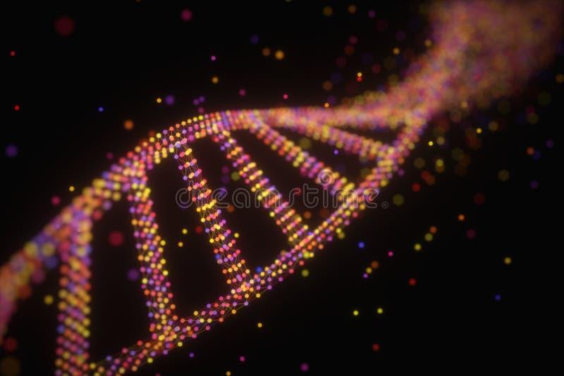 DNA molekuły struktura zdjęcia stock