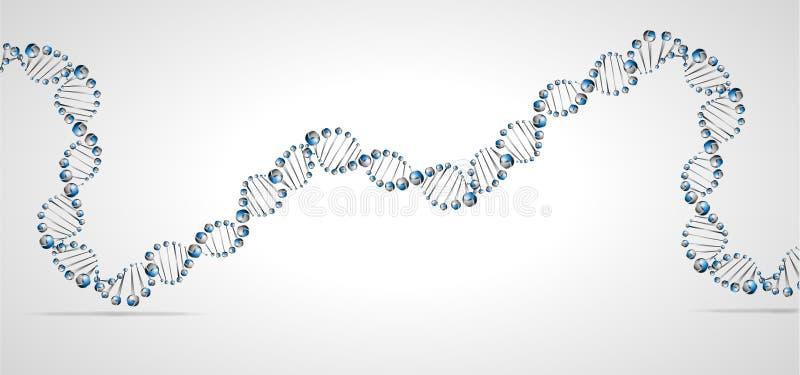 DNA molekuły struktura ilustracja wektor
