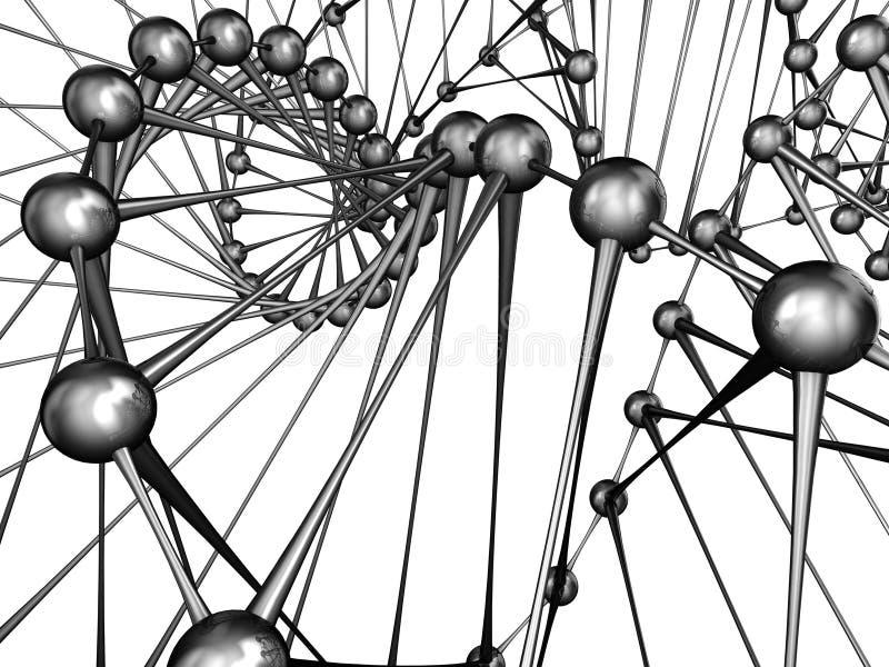 dna-molekyl royaltyfri illustrationer