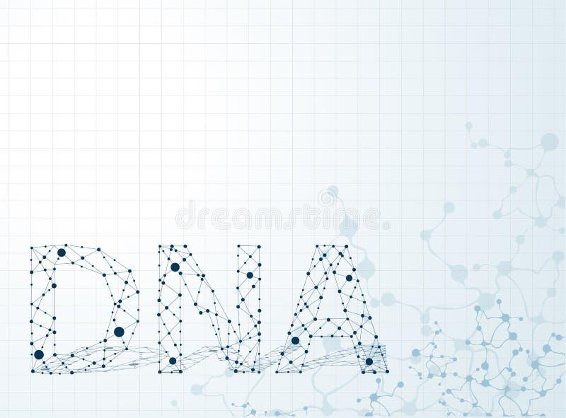 dna-molekyl, abstrakt begrepp vektor illustrationer