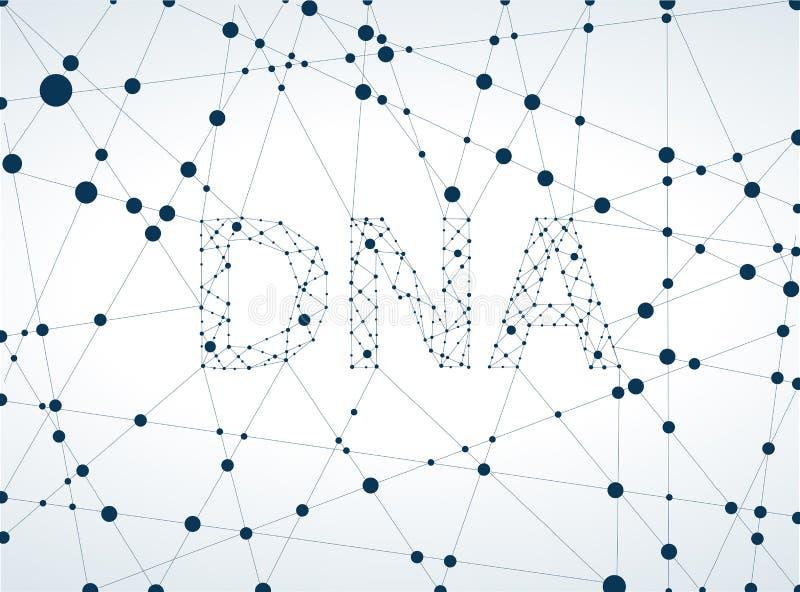 dna-molekyl, abstrakt begrepp stock illustrationer