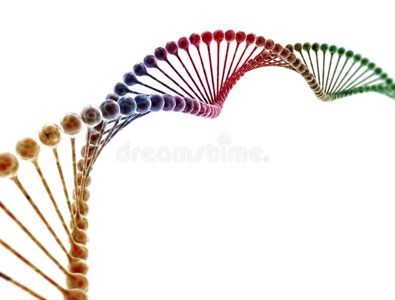 DNA multi color royalty free stock photography