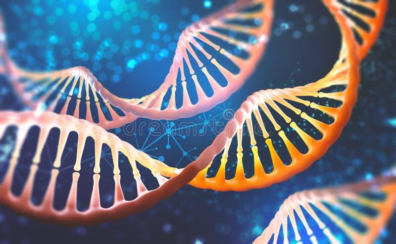 DNA-onderzoekmolecule Analyse van structuur menselijk genoom royalty-vrije illustratie