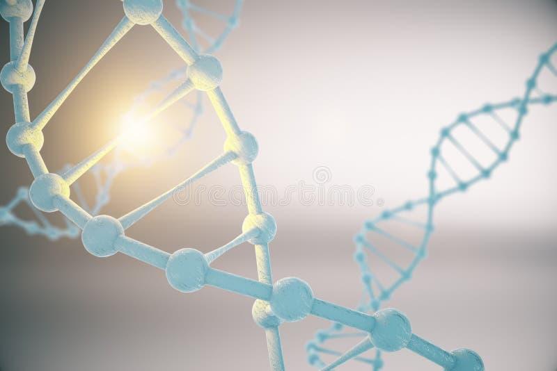 DNA på grå bakgrund royaltyfri illustrationer