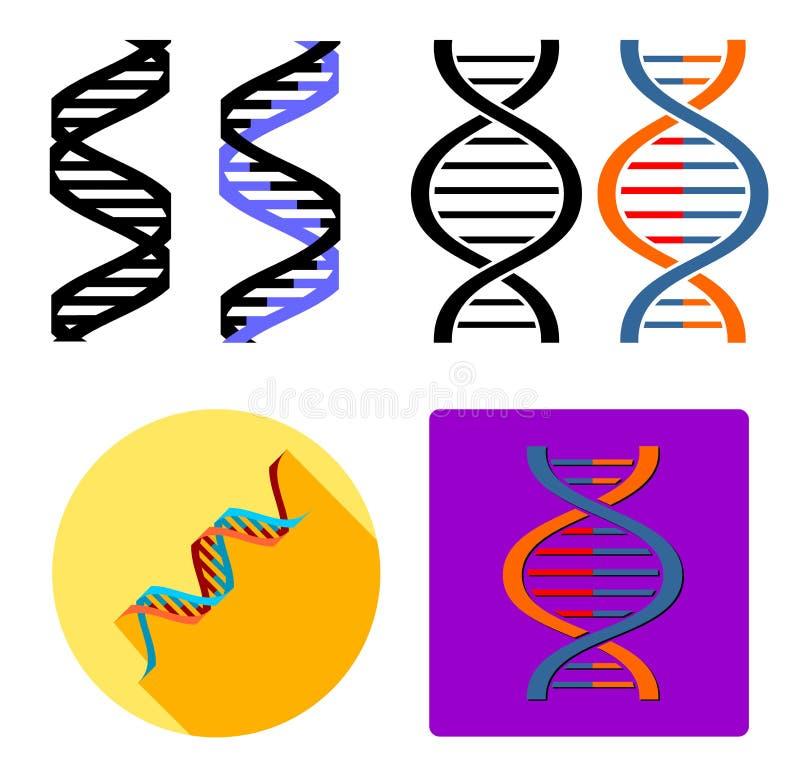 DNA-pictogram stock illustratie