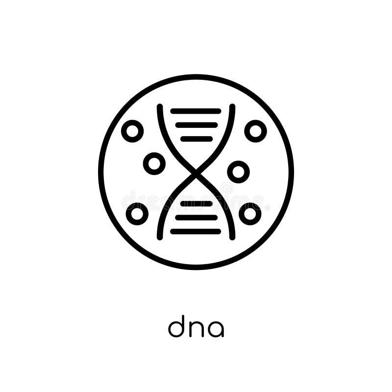 DNA-pictogram In modern vlak lineair vectordna-pictogram op witte bac royalty-vrije illustratie