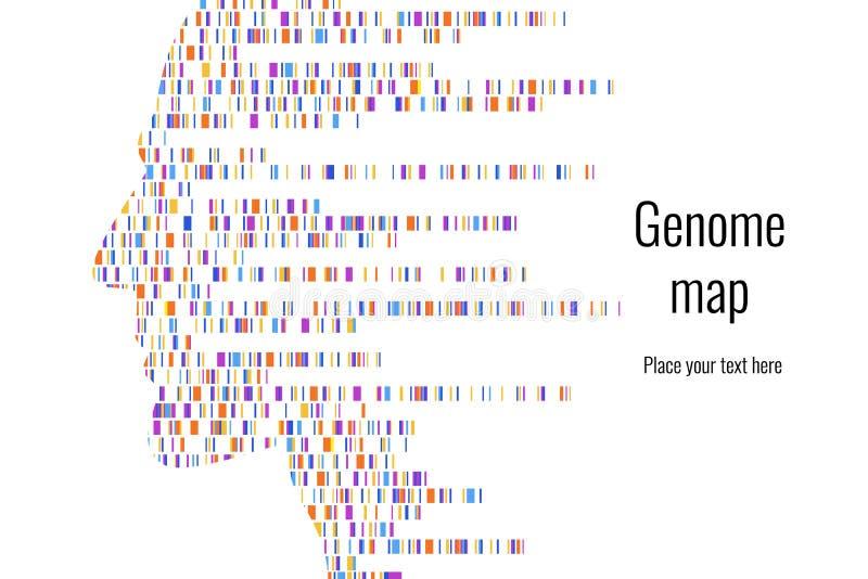 Dna pr?bny infographic r?wnie? zwr?ci? corel ilustracji wektora Genom sekwencji mapa projekta po?arniczy notatnika szablonu pisa? ilustracja wektor