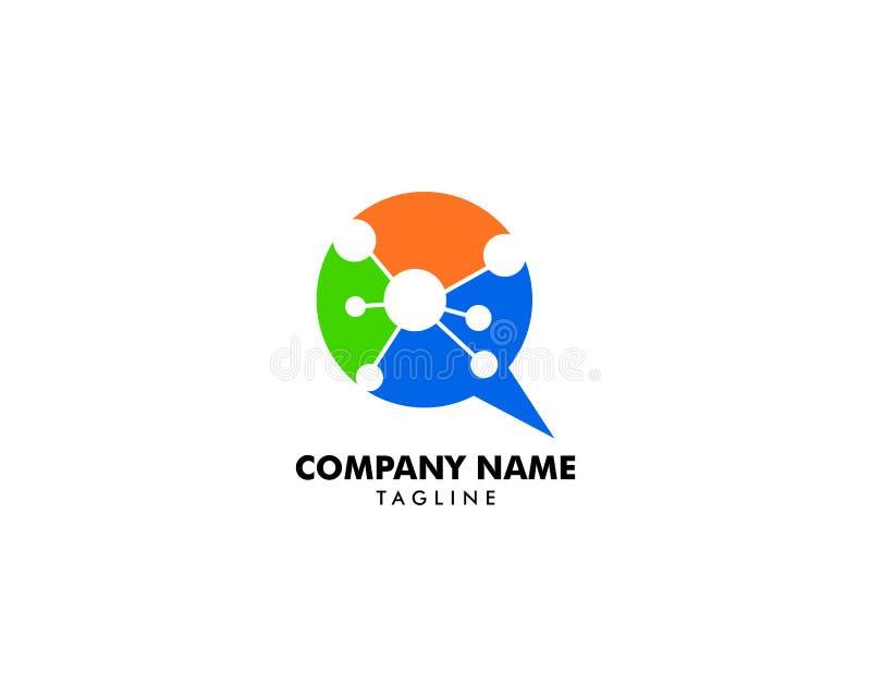 DNA-Praatjepictogram Logo Design Element stock illustratie