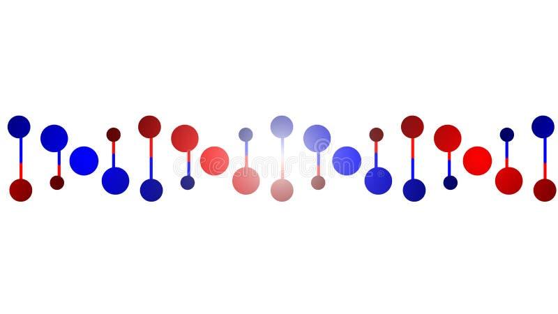 DNA protein chain. Vector art illustration of laboratory stock illustration