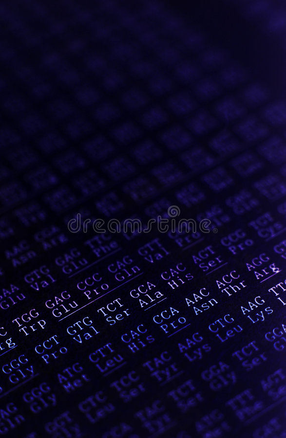 DNA-Reihenfolge stockfoto