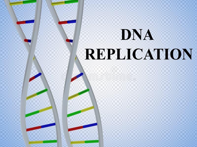 DNA-REPLICATIEconcept stock illustratie