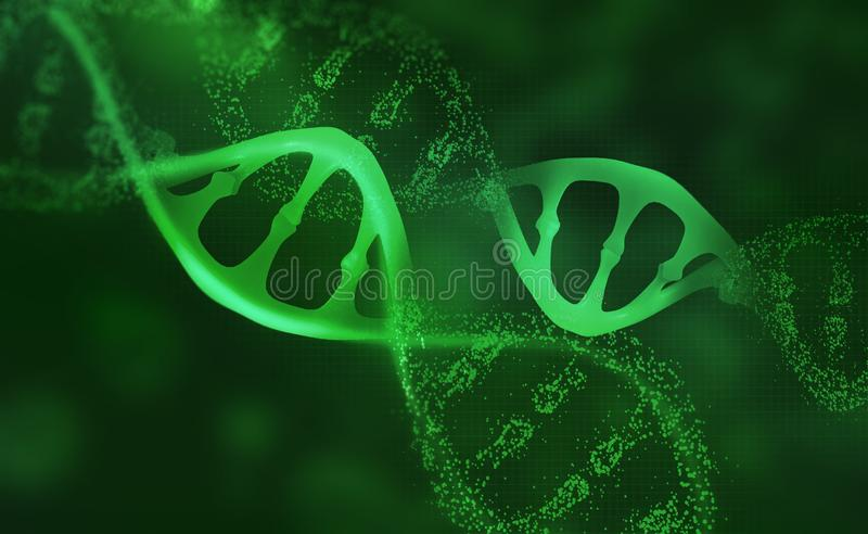 DNA research molecule. Analysis of structure human genome royalty free illustration