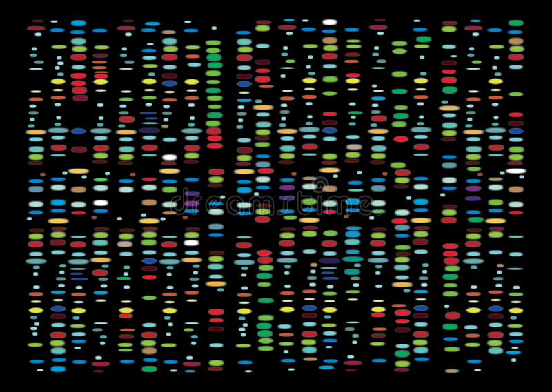 DNA Results royalty free stock images