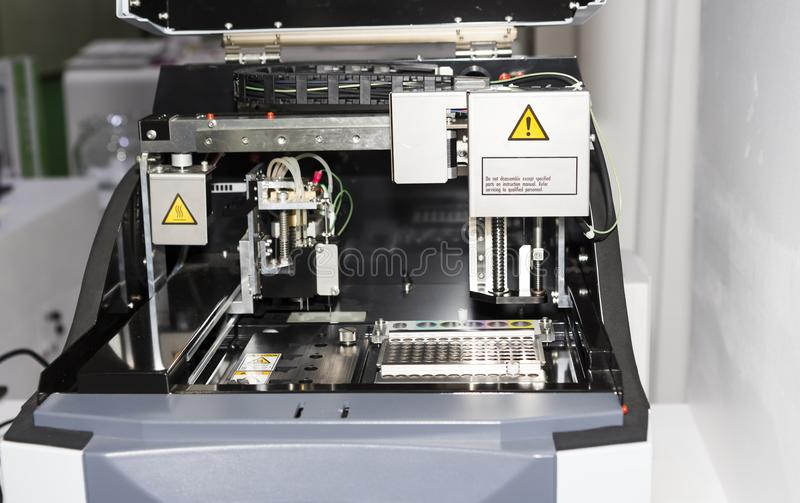 DNA RNA Analysis equipment. Selective focus royalty free stock photography