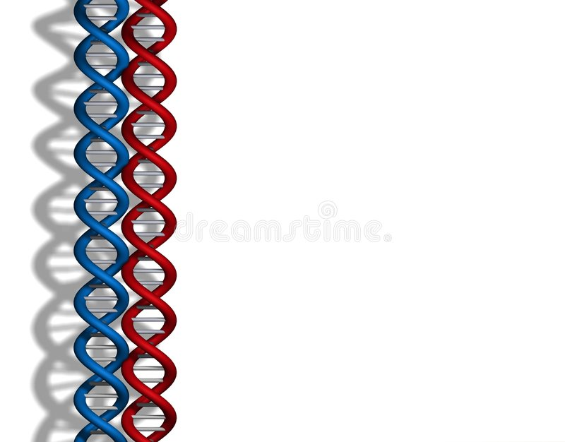 DNA-rotes Blau stock abbildung