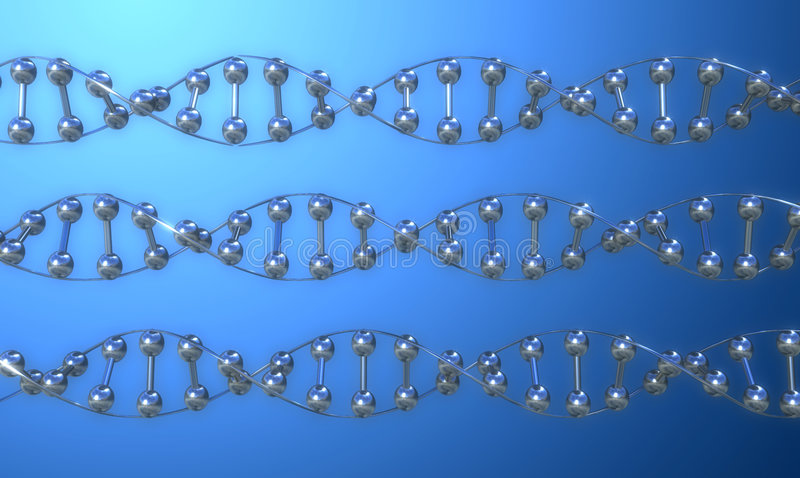DNA IN ROW royalty free stock photography