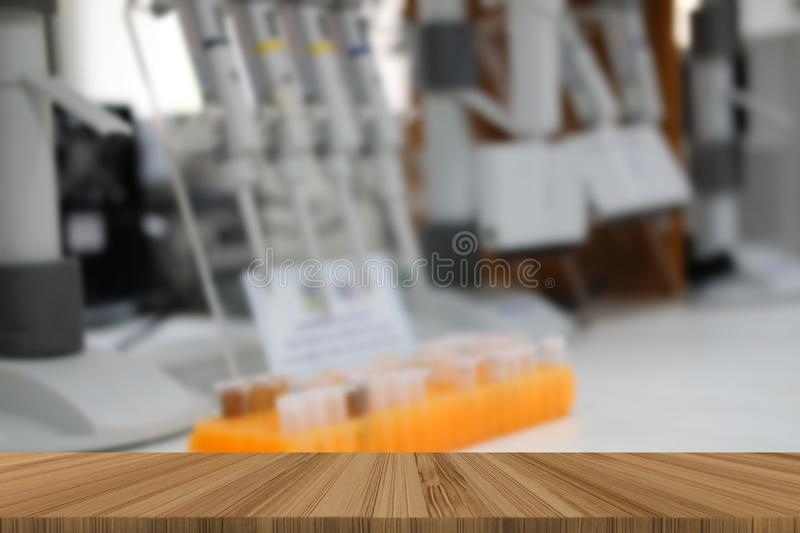 DNA sample in PCR tube microplate stock photo