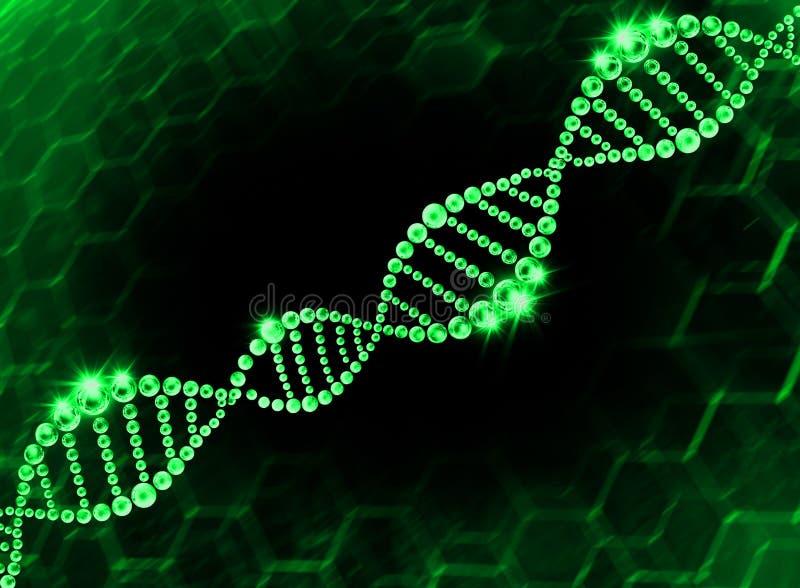 DNA-Schroef Moleculaire Achtergrond stock foto