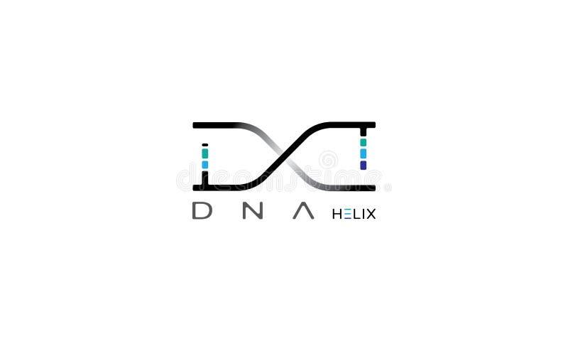 DNA-schroef vectorbeeld royalty-vrije illustratie