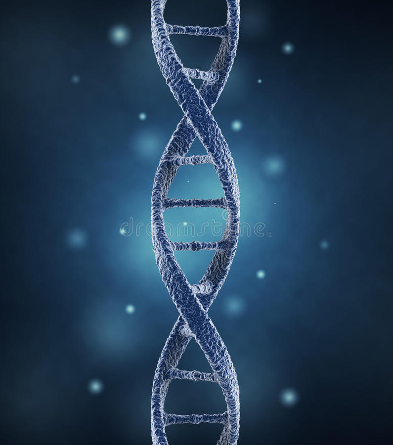 DNA-schroefmolecules. 3D wetenschapsconcept vector illustratie