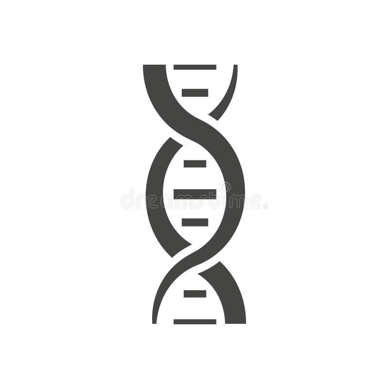 DNA-schroefsilhouet stock illustratie