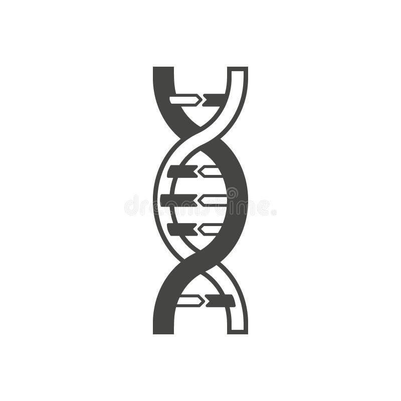 DNA-schroefsymbool, embleem of tatoegeringsconcept vector illustratie
