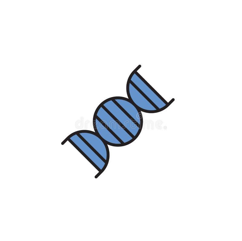 DNA simple symbol. Cartoon design icon. Flat vector illustration. Isolated on white background. stock illustration