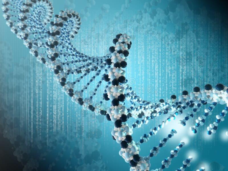 DNA-spiraal stock illustratie