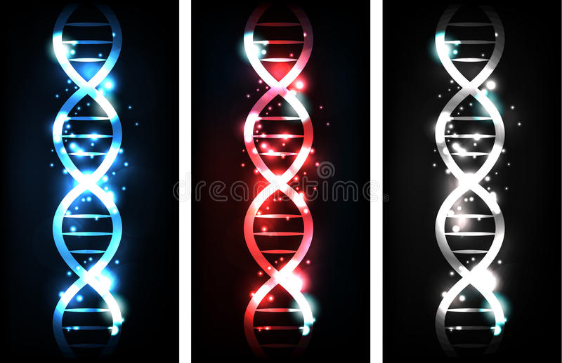 DNA-spiralen stock illustratie