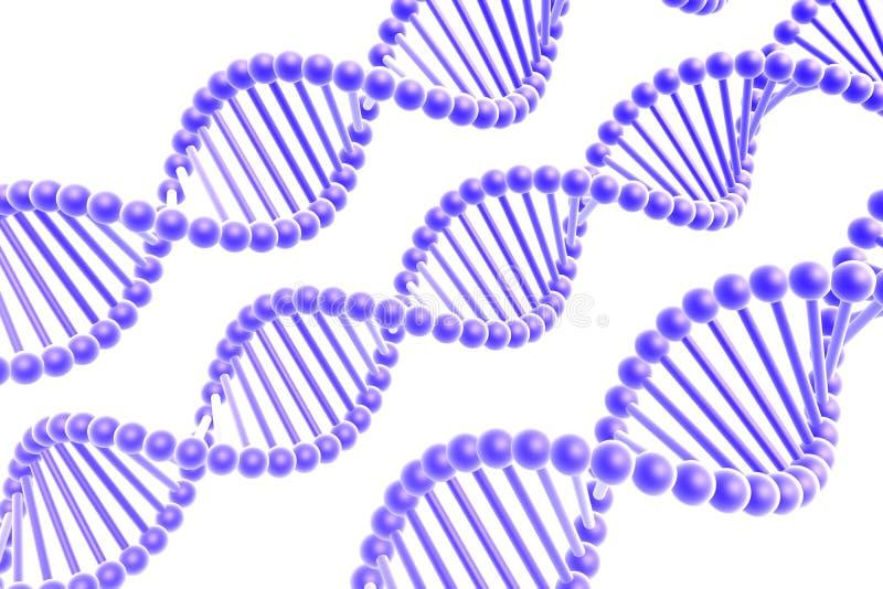 DNA-Spiralen lizenzfreie abbildung