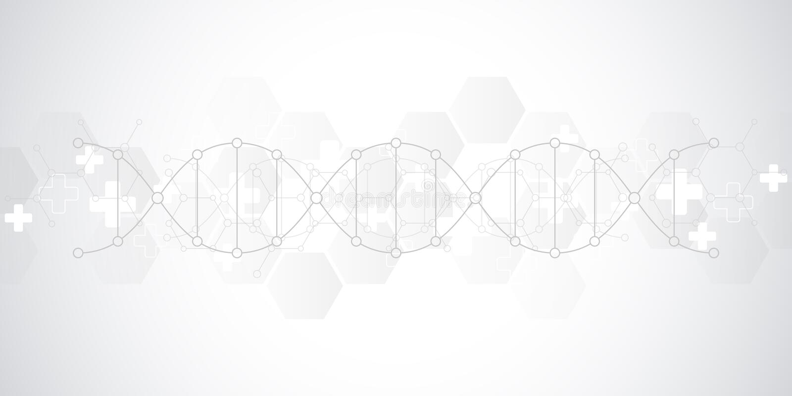 DNA strand and molecular structure. Genetic engineering or laboratory research. Background texture for medical or. Scientific and technological design vector illustration