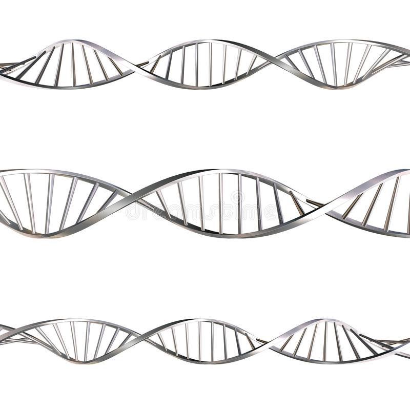 DNA strands stock illustration