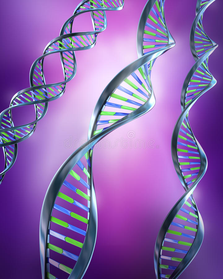 Download DNA Strands - Simple And Dual Helix Stock Illustration - Image: 16944508