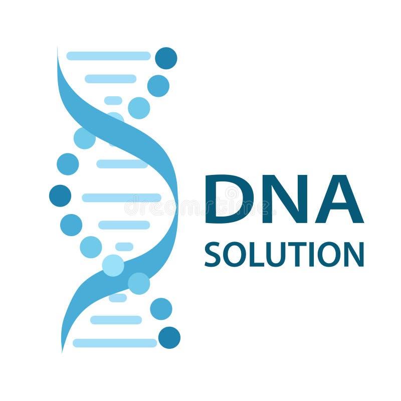 DNA Strands Solution logo icon flat design, stock vector illustr. Ation, eps 10 vector illustration