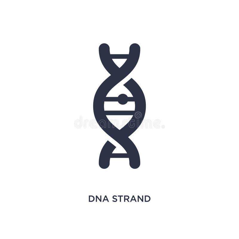 DNA-Strangikone auf weißem Hintergrund Einfache Elementillustration vom Ausbildungskonzept stock abbildung
