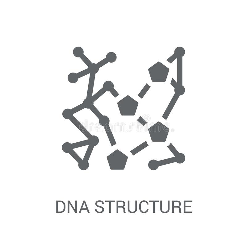 Dna structure icon. Trendy Dna structure logo concept on white b vector illustration
