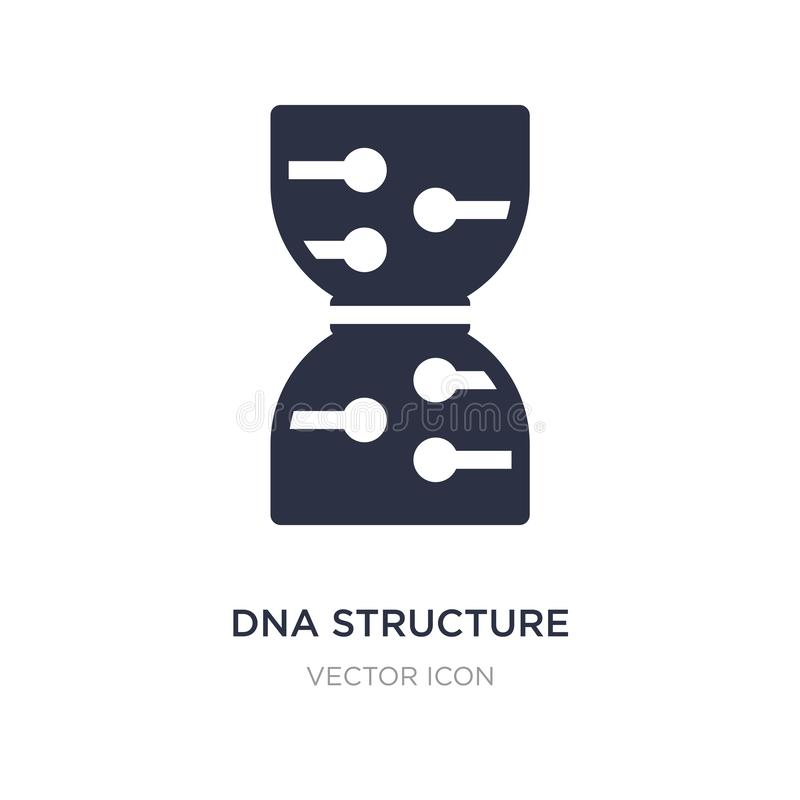 Dna structure icon on white background. Simple element illustration from Future technology concept. Dna structure sign icon symbol design royalty free illustration