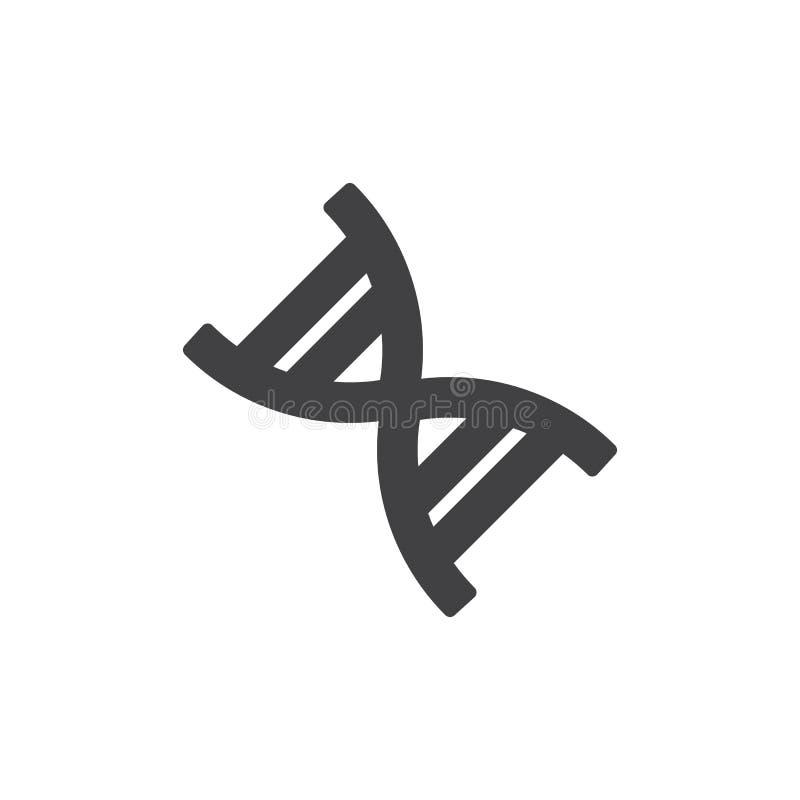 DNA-structuur vectorpictogram stock illustratie