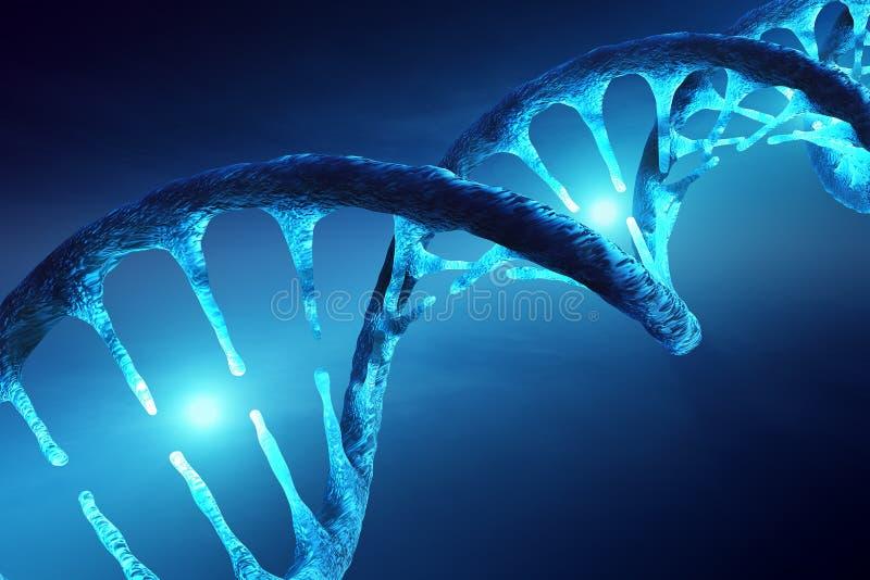 DNA struktura iluminująca ilustracja wektor