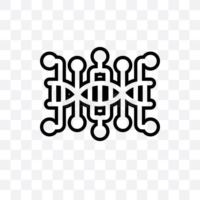 Dna struktury wektorowa liniowa ikona odizolowywająca na przejrzystym tle, Dna struktury przezroczystości pojęcie może używać dla ilustracji