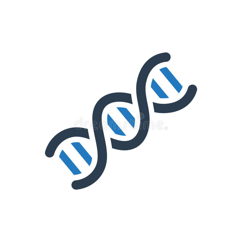 Dna-symbol royaltyfri illustrationer