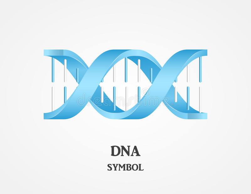 DNA symbol, DNA logotype, science logo. Spiral logo royalty free illustration