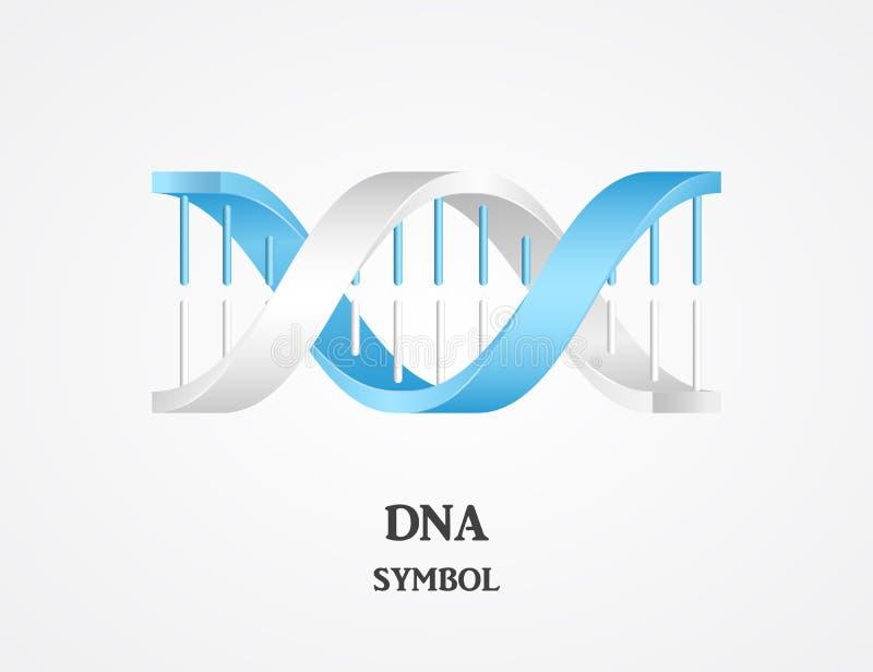 DNA-symbool, DNA logotype vector illustratie