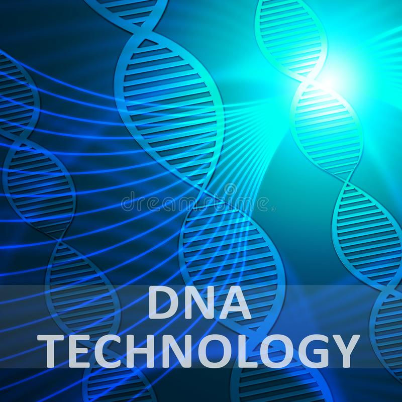 Dna technologia Pokazuje Genetyczną techniki 3d ilustrację ilustracja wektor