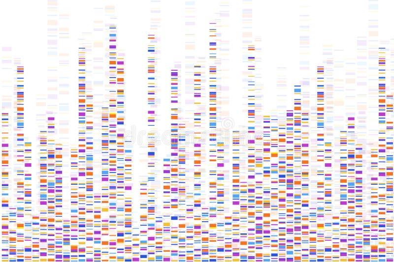 DNA-Test infographic Auch im corel abgehobenen Betrag Genomreihenfolgenkarte Schablone f?r Ihre Auslegung Hintergrund, Tapete vektor abbildung