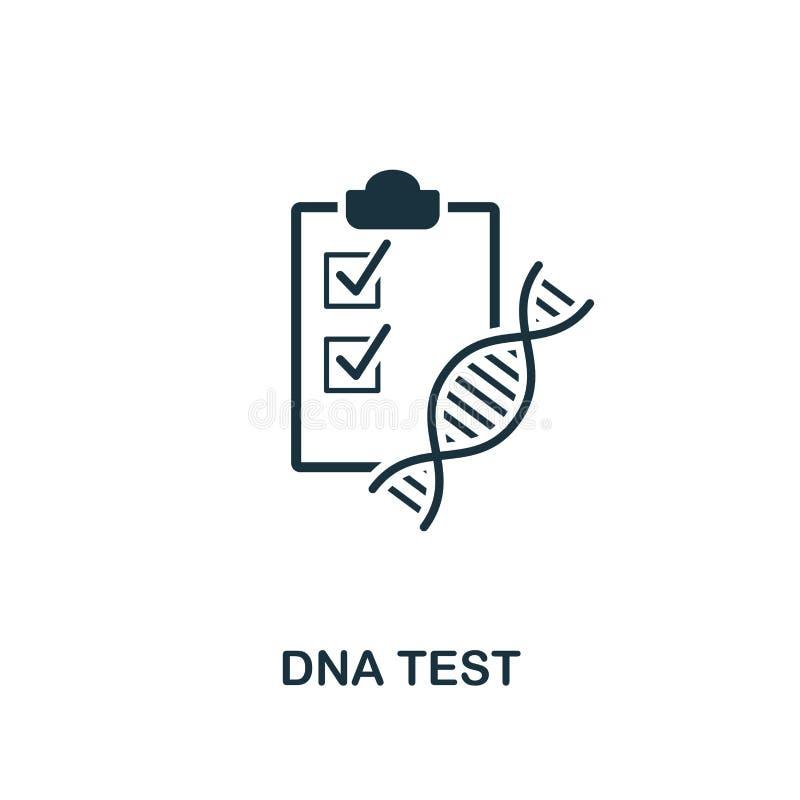 DNA-Testikone Erstklassiger Artentwurf von der Gesundheitswesenikonensammlung Pixel-perfekte DNA-Testikone für Webdesign, Apps, S stock abbildung