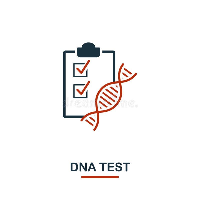 DNA-Testikone Kreativer Entwurf von der Gesundheitswesenikonensammlung E stock abbildung