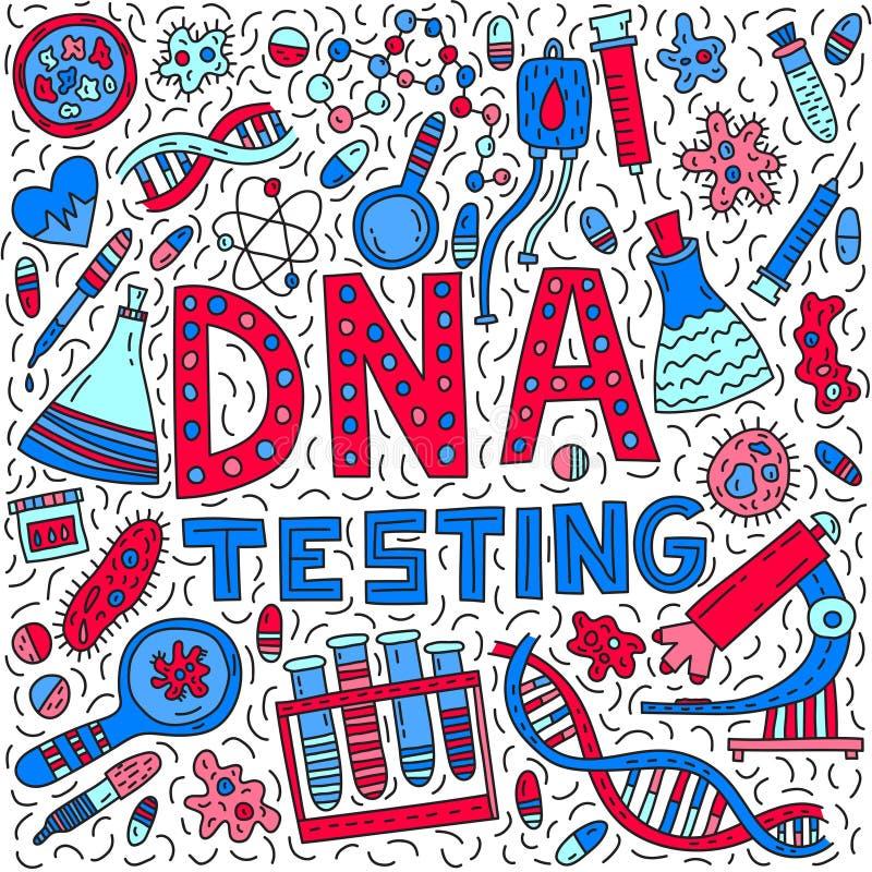 DNA testing vector illustration